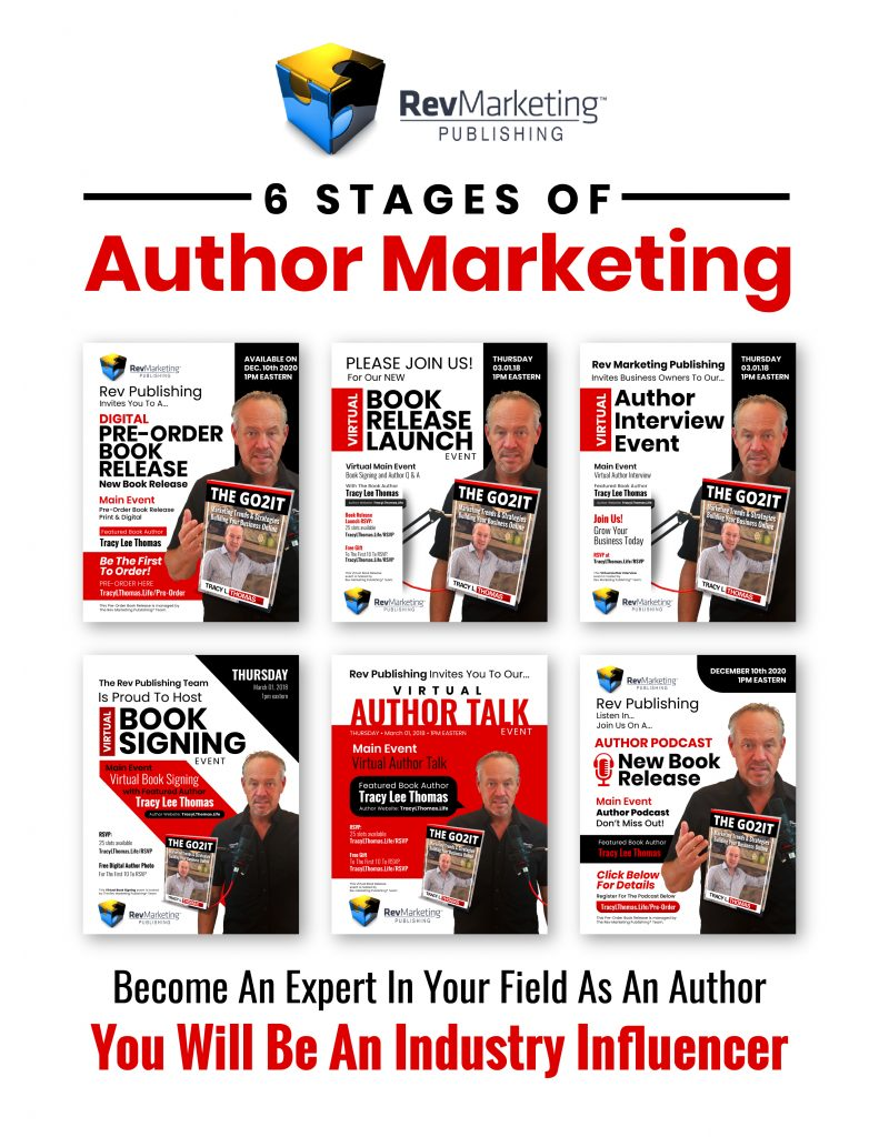 man holding a book author marketing